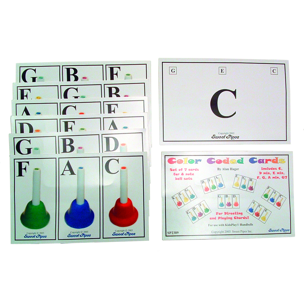 Handbell Chord Cards, Set of 7