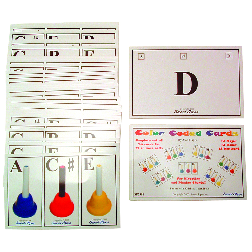 Handbell Chord Cards, Set of 36