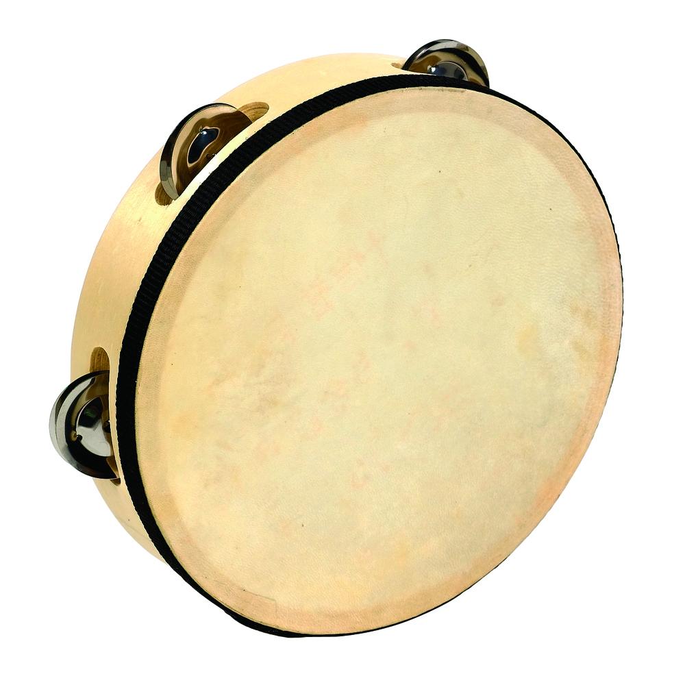 """Wooden Tambourine, 8"""""""