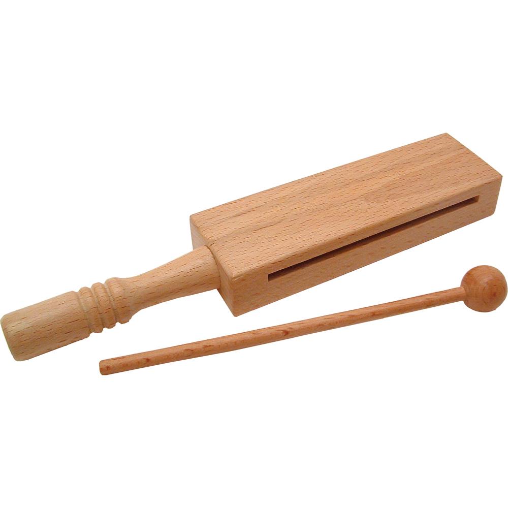 Single Woodblock on a Handle