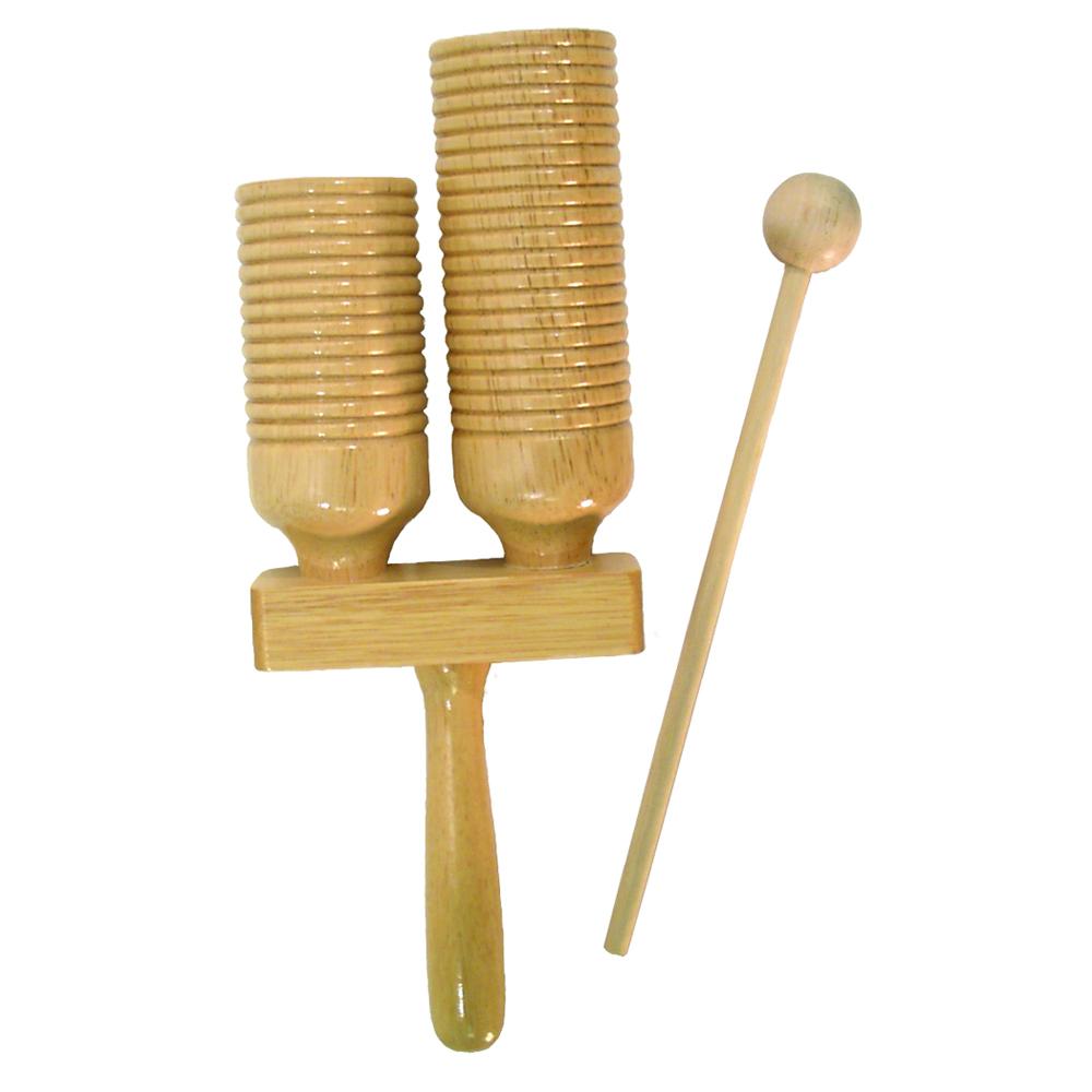 Two-Tone Wood Agogo