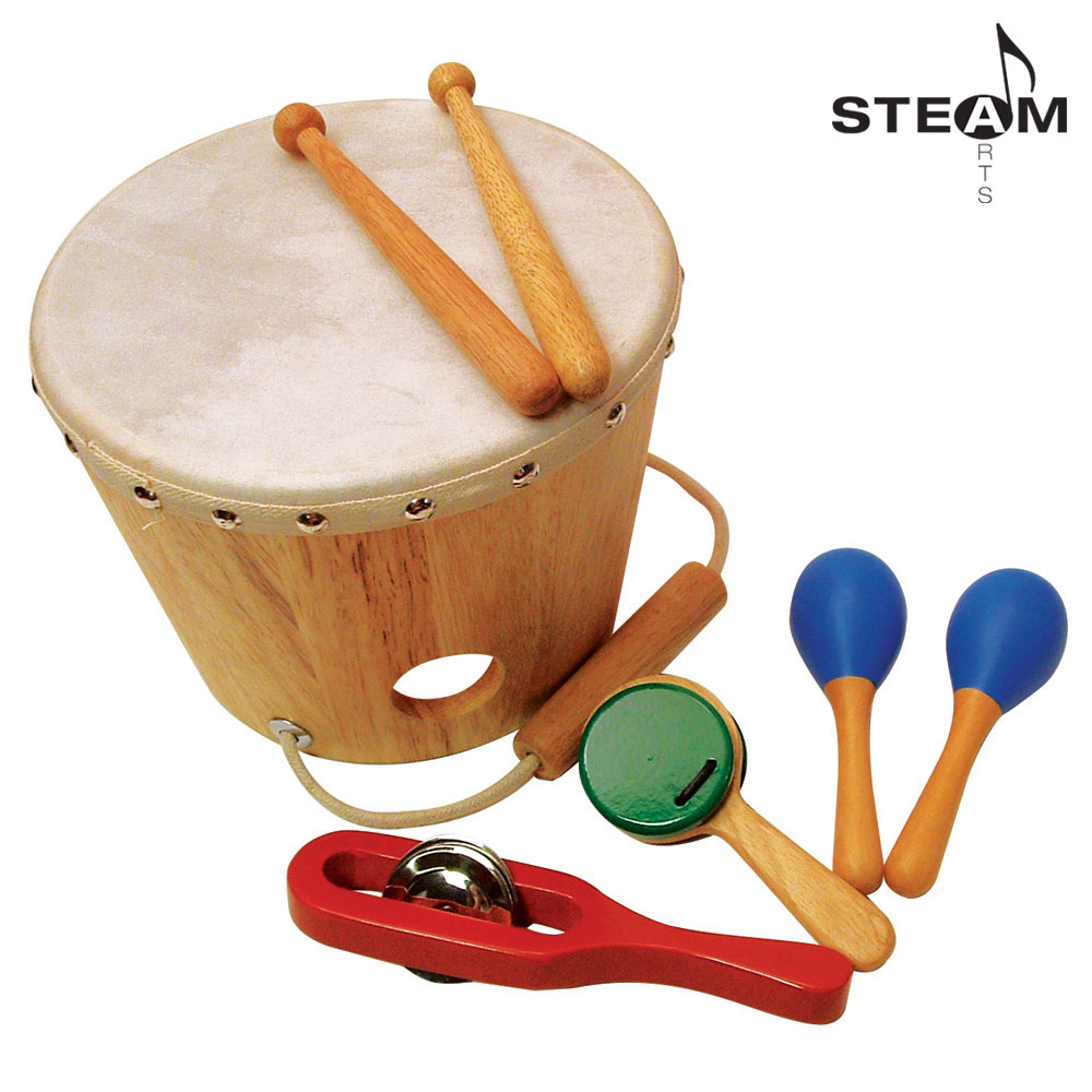 KI7101-Sounds Like Fun Shake Rattle and Drum Set